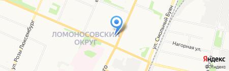 Амадеус на карте Архангельска