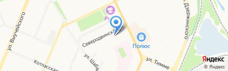 Беломорстрой на карте Архангельска