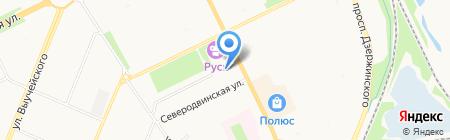 Железнодорожная поликлиника на карте Архангельска