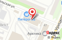 Схема проезда до компании Архпресс в Архангельске
