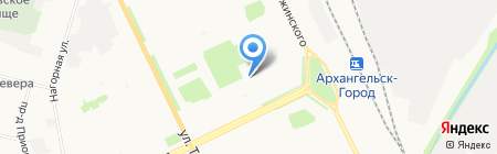Бинар на карте Архангельска