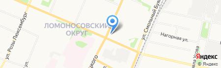 Белорусский трикотаж на карте Архангельска