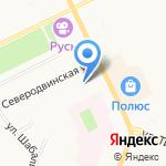 Беломорская на карте Архангельска