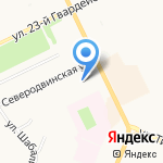 Беломорский на карте Архангельска