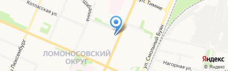 Северный автобус на карте Архангельска