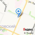 Бюро технической инвентаризации на карте Архангельска