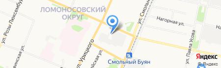 Северная Двина на карте Архангельска