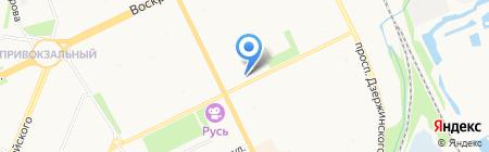 Привокзальная детская библиотека №8 на карте Архангельска