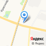 Космея на карте Архангельска