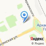 Аква на карте Архангельска