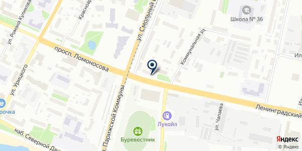 Банкомат, Почта Банк, ПАО на карте Архангельске