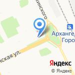 Фортуна на карте Архангельска