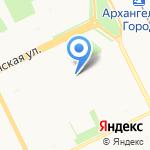 Северный бекон на карте Архангельска