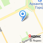 Зефирчик на карте Архангельска
