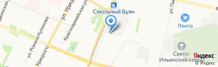 Шиномонтаж на карте Архангельска