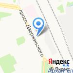 Архэкспорт на карте Архангельска