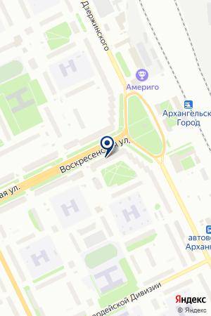 Банк ВТБ 24 на карте Архангельска