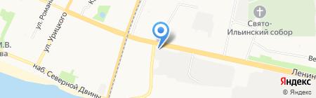 Уаз-Контракт на карте Архангельска
