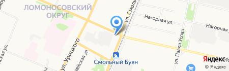 Автор на карте Архангельска