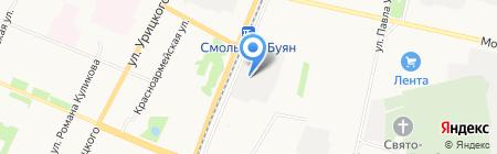 Позитив-Авто на карте Архангельска