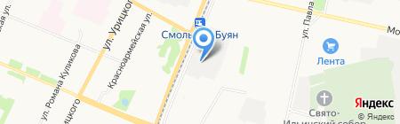 Архстроим на карте Архангельска