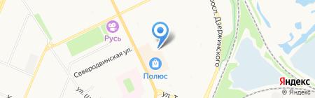 Сокол на карте Архангельска