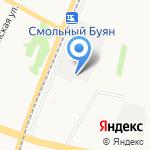 Смольный Буян на карте Архангельска