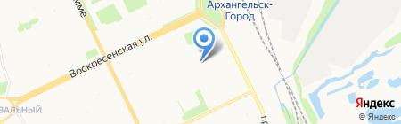 Детский сад №96 Сосенка на карте Архангельска