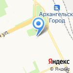Дубль В-Север на карте Архангельска