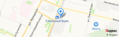 Смольный Буян 24 на карте Архангельска