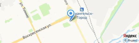 Точка на карте Архангельска