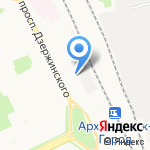 Архимед на карте Архангельска