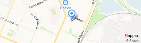 Архремстрой-Север-1 на карте Архангельска