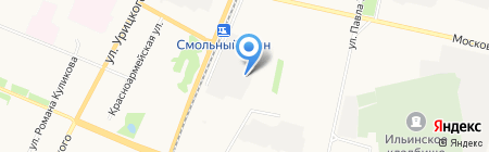 Автоволна на карте Архангельска