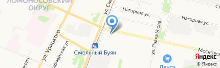 Магазин овощей и фруктов на Московском проспекте на карте Архангельска
