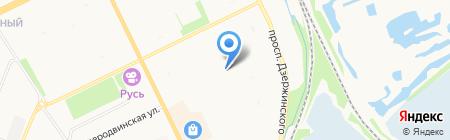 Медез на карте Архангельска