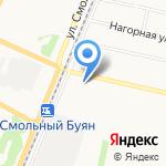 Поляна на карте Архангельска