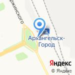 Народный на карте Архангельска