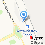 Магазин товаров для рыбалки и туризма на карте Архангельска