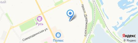 Детский сад №121 Золушка на карте Архангельска