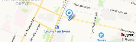Киоск по продаже овощей и фруктов на карте Архангельска