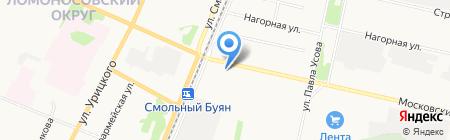 Магазин хозяйственных товаров на Московском проспекте на карте Архангельска