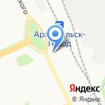 Архангельское агентство фирменного транспортного обслуживания на карте Архангельска