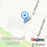 Северный на карте Архангельска