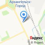 Майя на карте Архангельска