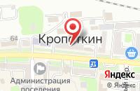 Схема проезда до компании Магнит Кдр 026 в Кропоткине