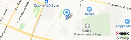 Средняя общеобразовательная школа №36 на карте Архангельска