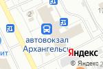 Схема проезда до компании Coffee Space в Архангельске
