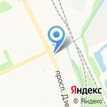 У Автовокзала на карте Архангельска