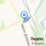 Агропромдорстрой на карте Архангельска